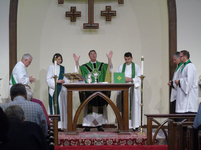 Celebrating the Eucharist at St. Mark's